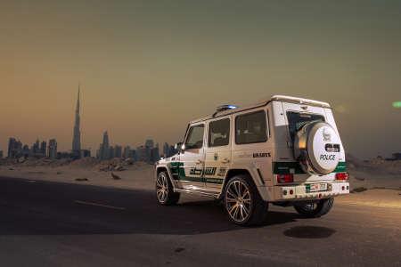 Brabus B63S- 700 Widestar Dubai Police