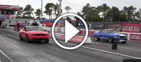 Drag Race 1968 Shelby GT350 vs 2012 Mustang Boss 302