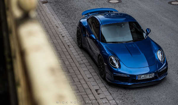 Porsche 911 Turbo S Blue Arrow edo competition