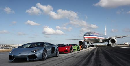 Lamborghini Aventador Highspeed-Test Miami Airport