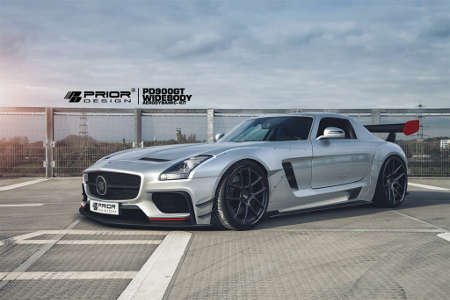 Mercedes SLS AMG mit PRIOR-DESIGN PD900GT Widebody Aerokit