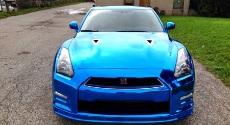 Nissan GT-R Blue Chrome by ReStyle It