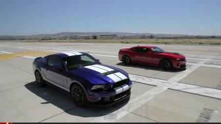 Ford Mustang Shelby GT500 gegen Chevrolet Camaro ZL1